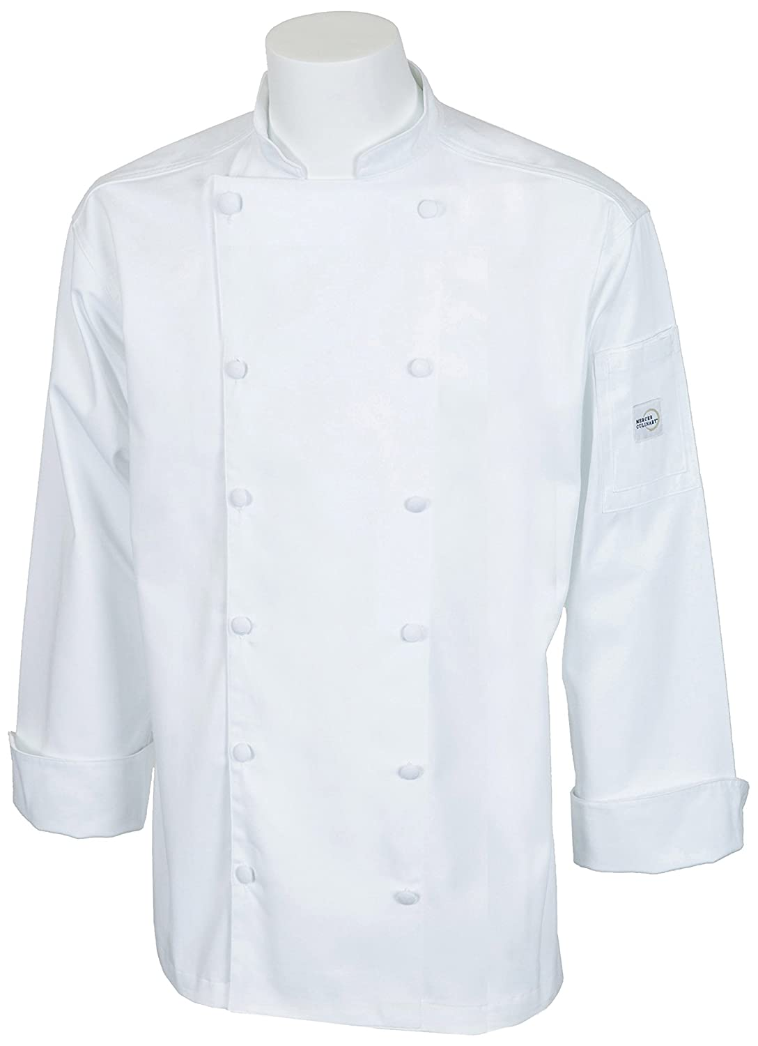 Mercer Culinary M62030WH3X Renaissance Men's Traditional Neck Jacket, 3X-Large, White