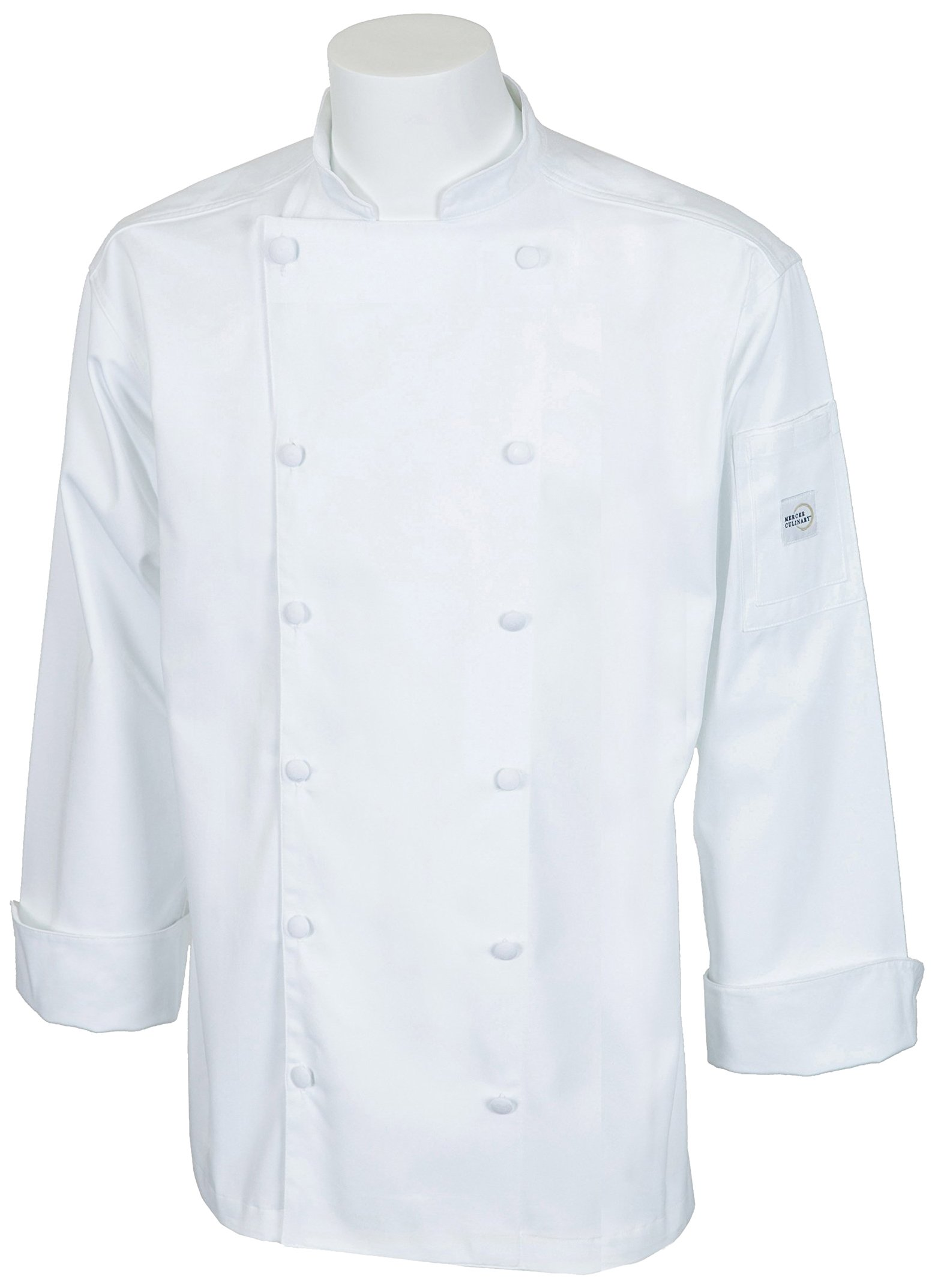 Mercer Culinary M62030WH1X Renaissance Men's Traditional Neck Chef Jacket, X-Large, White