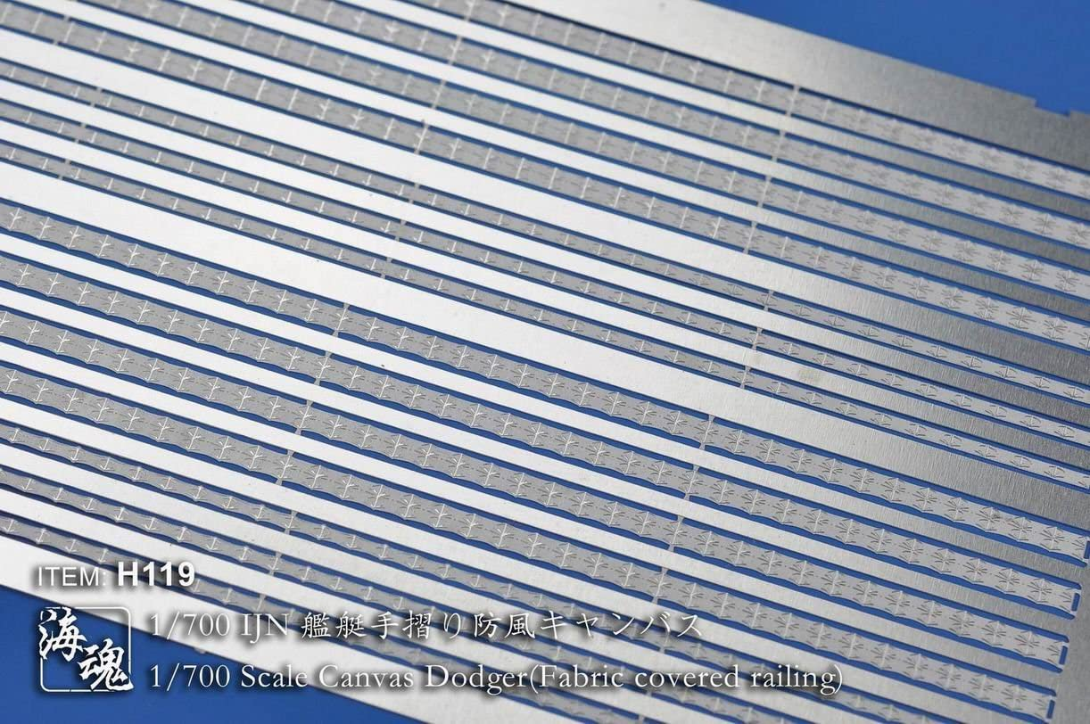 Fabric covered railing OceanSpirit H119 1//700 Scale Canvas Dodger