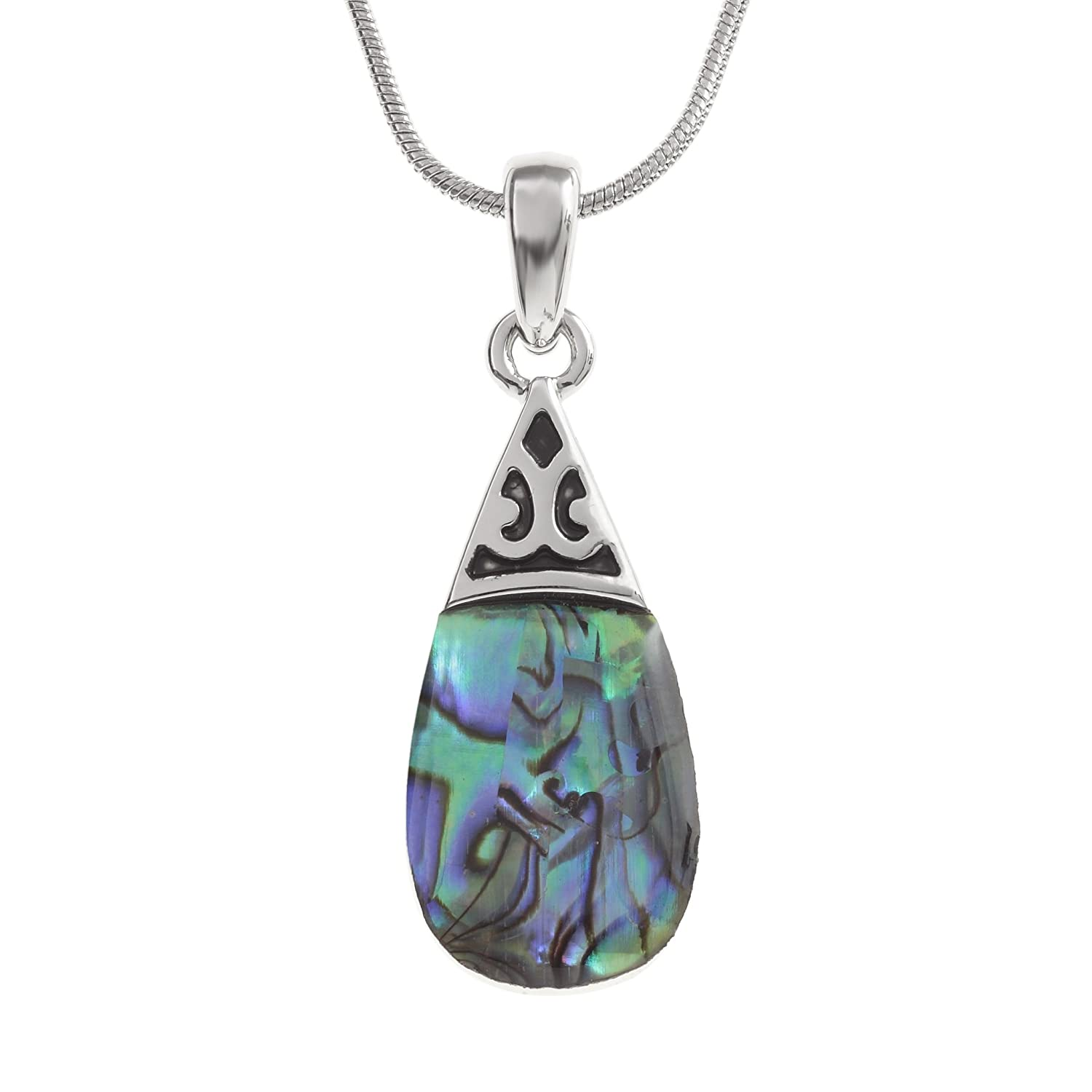 jewelry shell original silver paua chain file she products celtic pendant