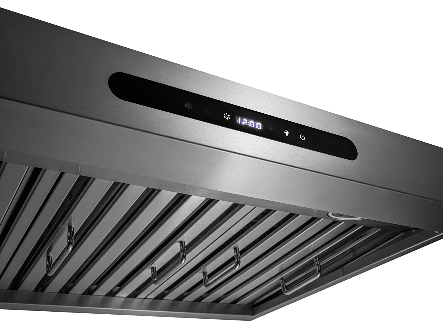 AKDY 30 Under Cabinet Stainless Steel Kitchen Cooking Fan Range Hood Gas Sensor Remote Control Stove Vent