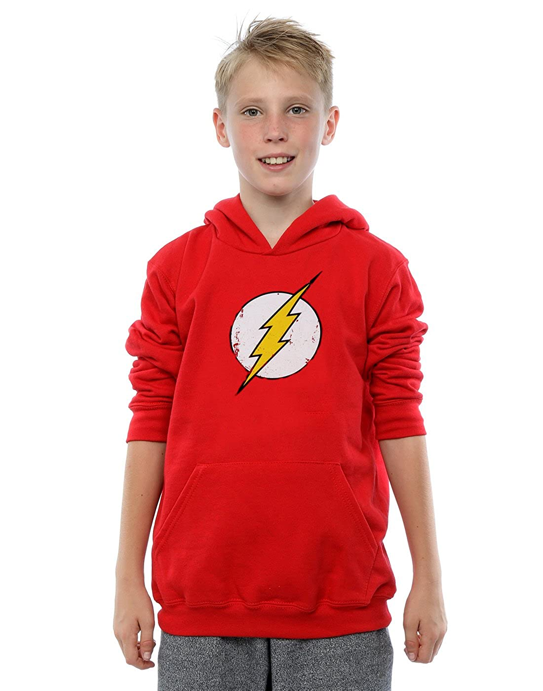 DC Comics Boys Flash Distressed Logo Hoodie Absolute Cult