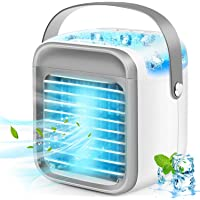 iBaste Portable Air Conditioner, Rechargeable Evaporative Air Conditioner Fan with 3 Speeds 7 Colors, Cordless Personal…