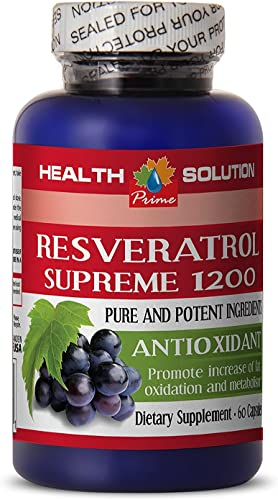 Resveratrol 2000 – RESVERATROL Supreme 1200MG – Prevent Muscle Fatigue 1 Bottle