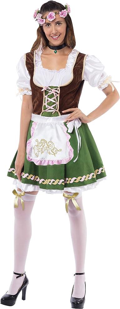 Costume German Germana Oktoberfest Bavarian for Woman Carnival Halloween