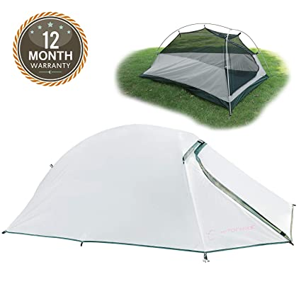 Hitorhike 20D Nylon Backpacking Tent One Person Waterproof Family Hiking Tent 4 Season Tent for C&ing  sc 1 st  Amazon.com & Amazon.com : Hitorhike 20D Nylon Backpacking Tent One Person ...