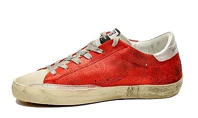big sale c6cf8 5e144 Golden Goose Women s Sneakers Superstar Red Glitter-Sand Star G32WS590.D97  (Size