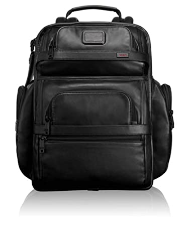 0434186e3b30 Amazon.com  TUMI - Alpha 2 T-Pass Business Class Leather Laptop Brief Pack  - 15 Inch Computer Backpack for Men and Women - Black  iServe