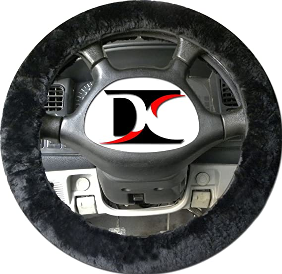 100% genuine sheepskin steering wheel cover