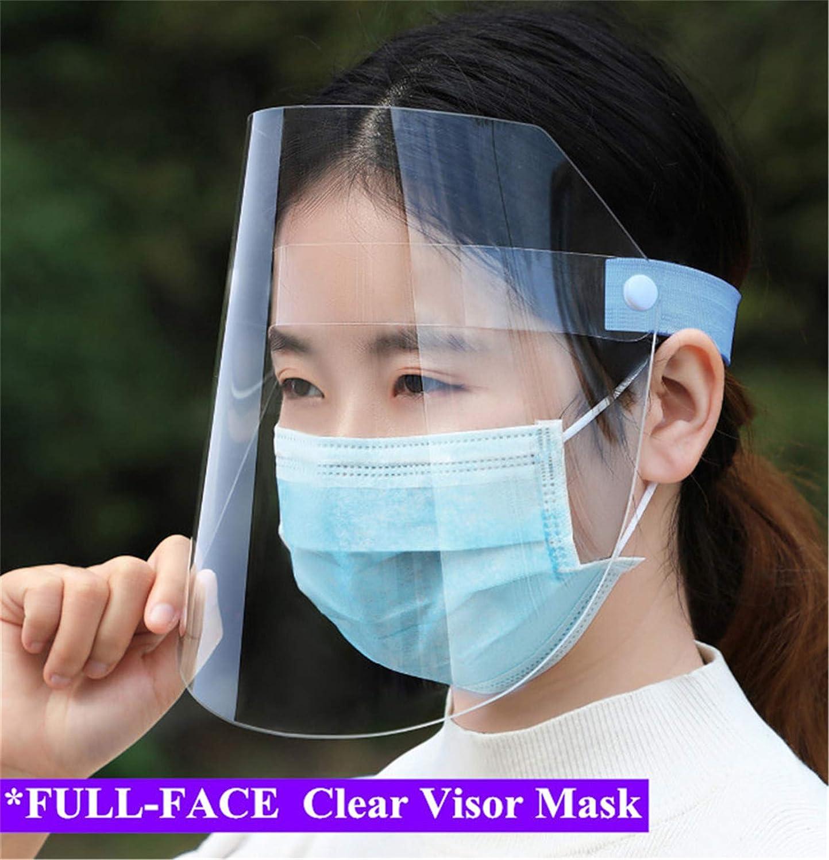 permite comer sin quitar la visera Face Prox Lote de 2 unidades unisex Stock Francia antisalpicaduras transparente Visera facial doble protecci/ón directa