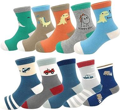 SUNBVE Baby Toddler Little Boys Children Fashion Cotton Crew Socks Gift Set