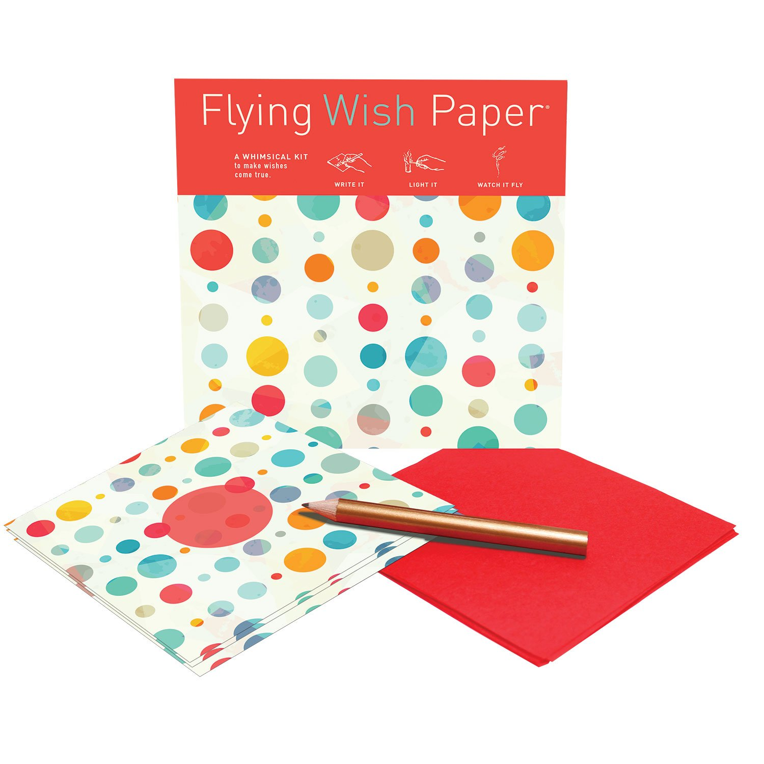 Flying Wish Paper - Party Going on ANYWHERE - CONFETTI - 5'' x 5'' - Mini Kits