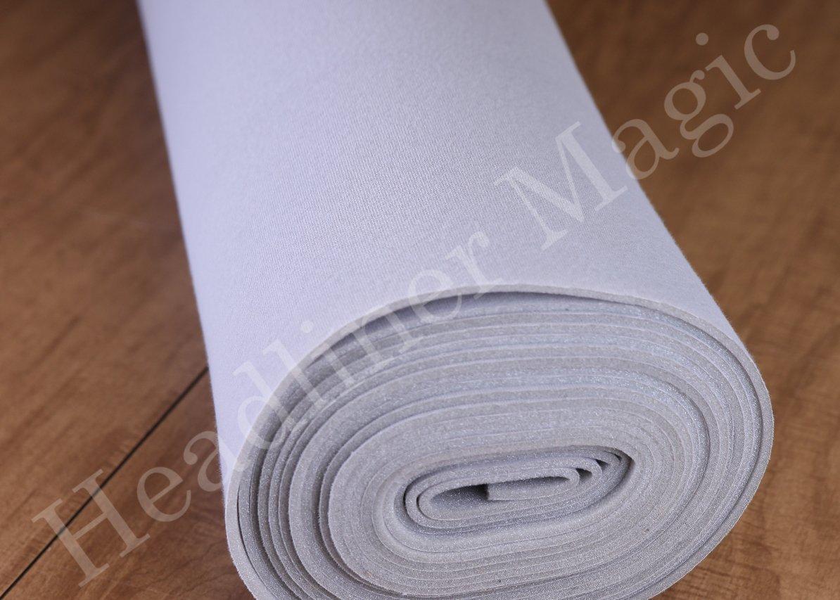 Headliner Magic - 64 Inch Wide Automotive Headliners Foam Backed Material (10 Yards (360''), Ox Grey - 1808) by Headliner Magic