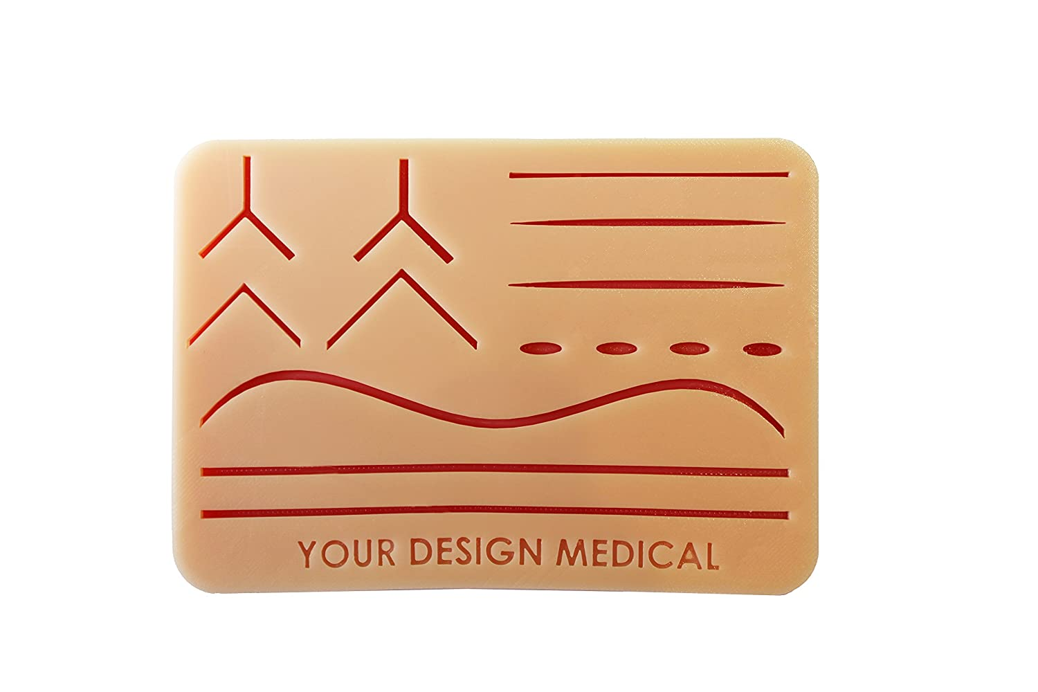 Large 3-Layer Suture Pad with Wounds (7' x 5' - Light Skin) - The Original! Free Videos and Instruction Card! Often Imitated, Never Replicated. Beware Knock Offs! - Made in The USA!