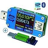 USBテスター USB電圧計、Bluetooth Type C USBテスターメーターUSB電圧メーターおよび電流テスター、1.44インチ5AカラーLCDディスプレイパワーテスターマルチメーター、QC 2.0 3.0 日本語説明書付