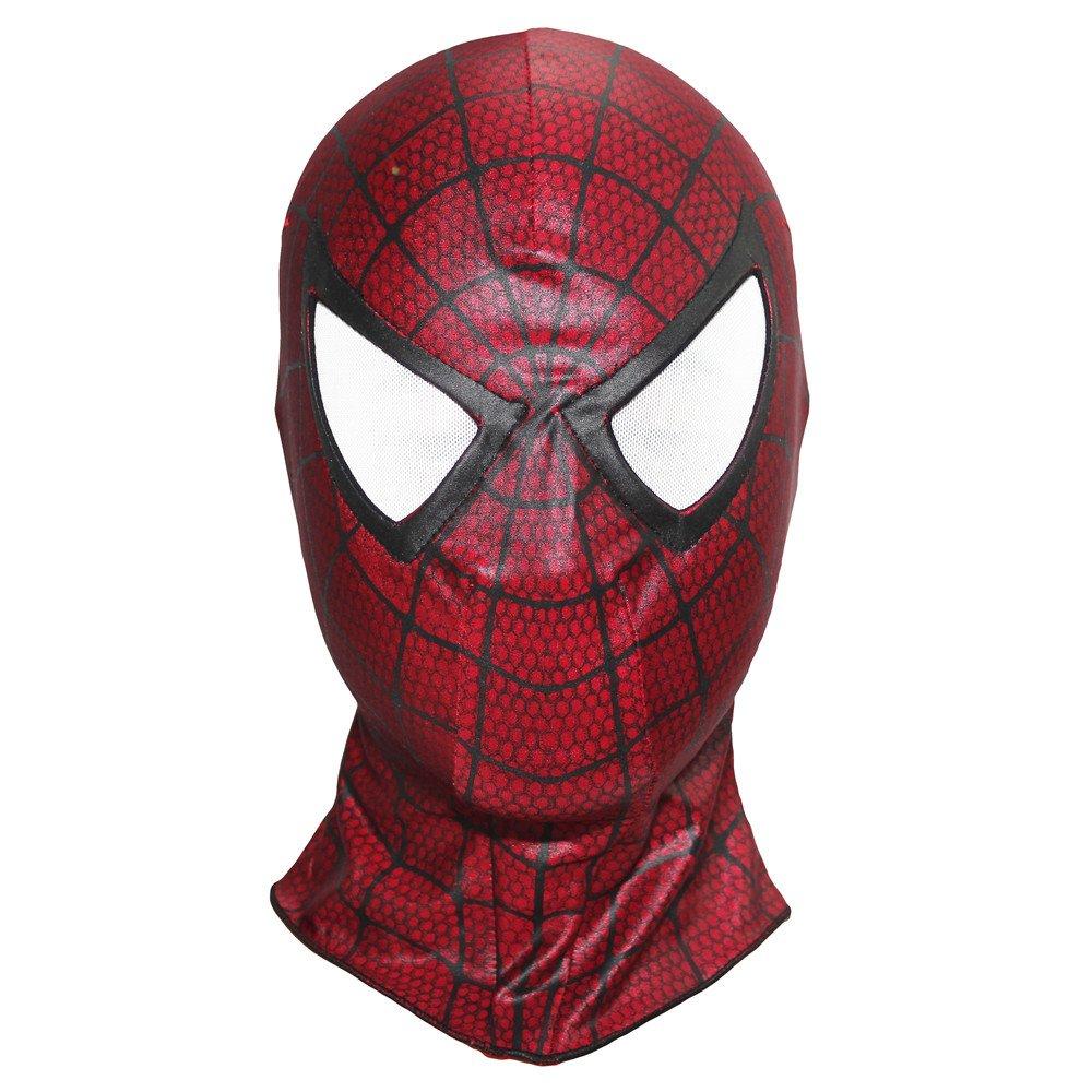 Spiderman 3 Homecoming Mask Costume Cosplay Balaclava Hood Adult (Red)