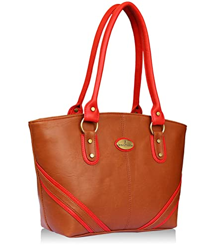 Fantosy Tan and Red women shoulder bag (FNB-733) (Tan and Red)  Amazon.in   Shoes   Handbags c25aae2966