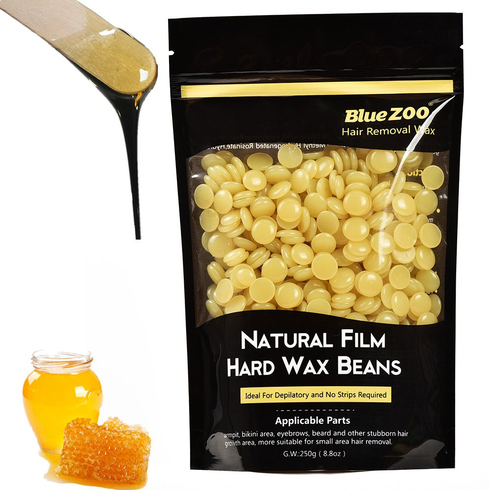 Hair Removal Hard Wax Beans Brazilian Depilatory Waxing Hot Film Pebbles for Bikini Body Man and Woman 250g-Blackcurrant BlueZOO