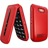 Ushining Unlocked Flip Phone 3G Dual SIM Card 2.4'' Flip Cell Phones Unlocked SOS Button Easy to Use Mobile Phone for…
