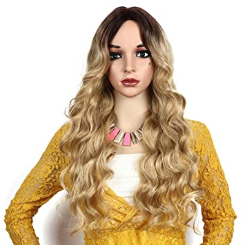 piabigka Perruque Femme Longue Bouclée Mode