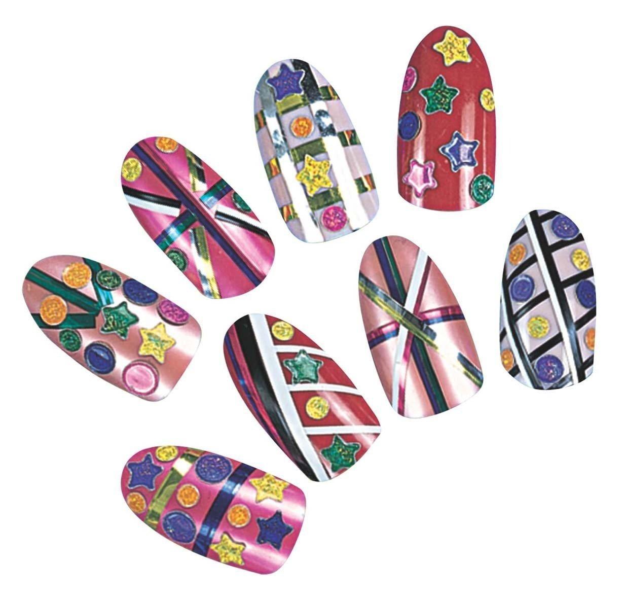 Kit de uñas postizas para niña - Rojo: Amazon.es: Juguetes y juegos