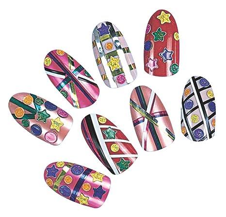 Kit de uñas postizas para niña - Rojo