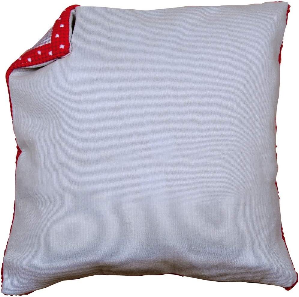 Mehrfarbig 45 x 45 Kissenr/ücken ohne Reissverschluss Vervaco Ecru Baumwolle 45 x 45 x 0,3 cm