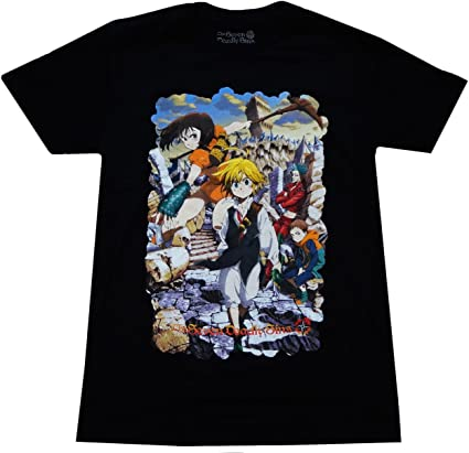 Great Eastern Entertainment The Seven Deadly Sins Anime Men's Meliodas Key Visual Black T-Shirt