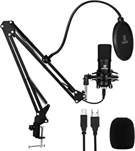 USB Microphone for PC - NAHWONG Professional 192KHz/24Bit Condenser Recording Mic Kit for Podcast, Recordings for YouTube, Streaming,Gaming, Recording Music, Voice Over, Livestreaming