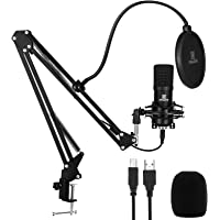 USB Microphone for PC - NAHWONG Professional 192KHz/24Bit Condenser Recording Mic Kit for Podcast, Recordings for…