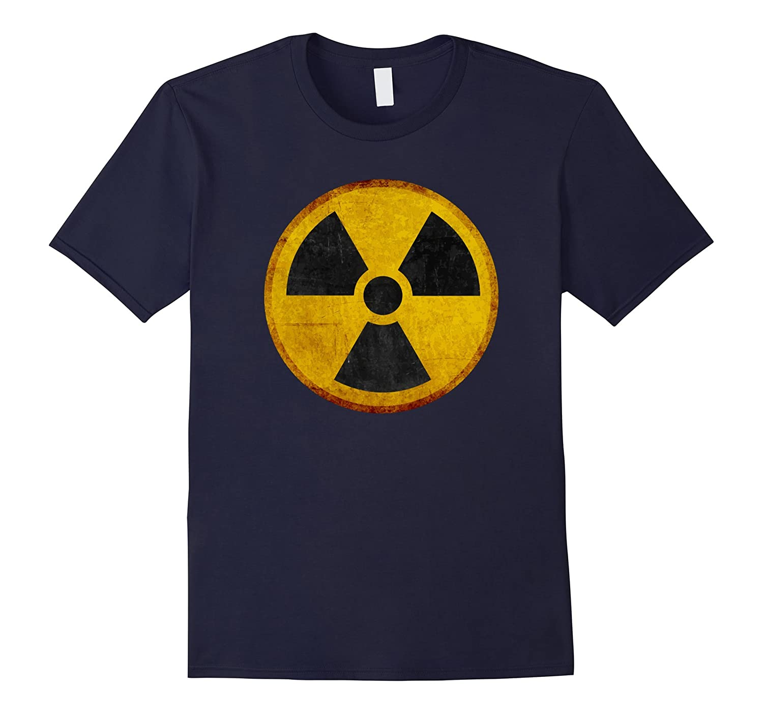 NUCLEAR RADIATION AWESOME WARNING SIGN T-SHIRT-TH
