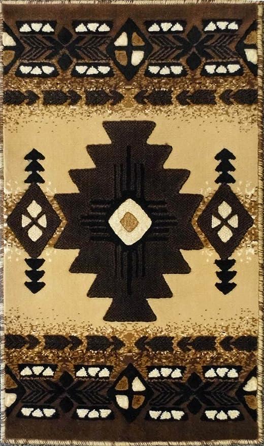 South West Native American Door Mat Area Rug Design C318 Berber 24 In. X 40