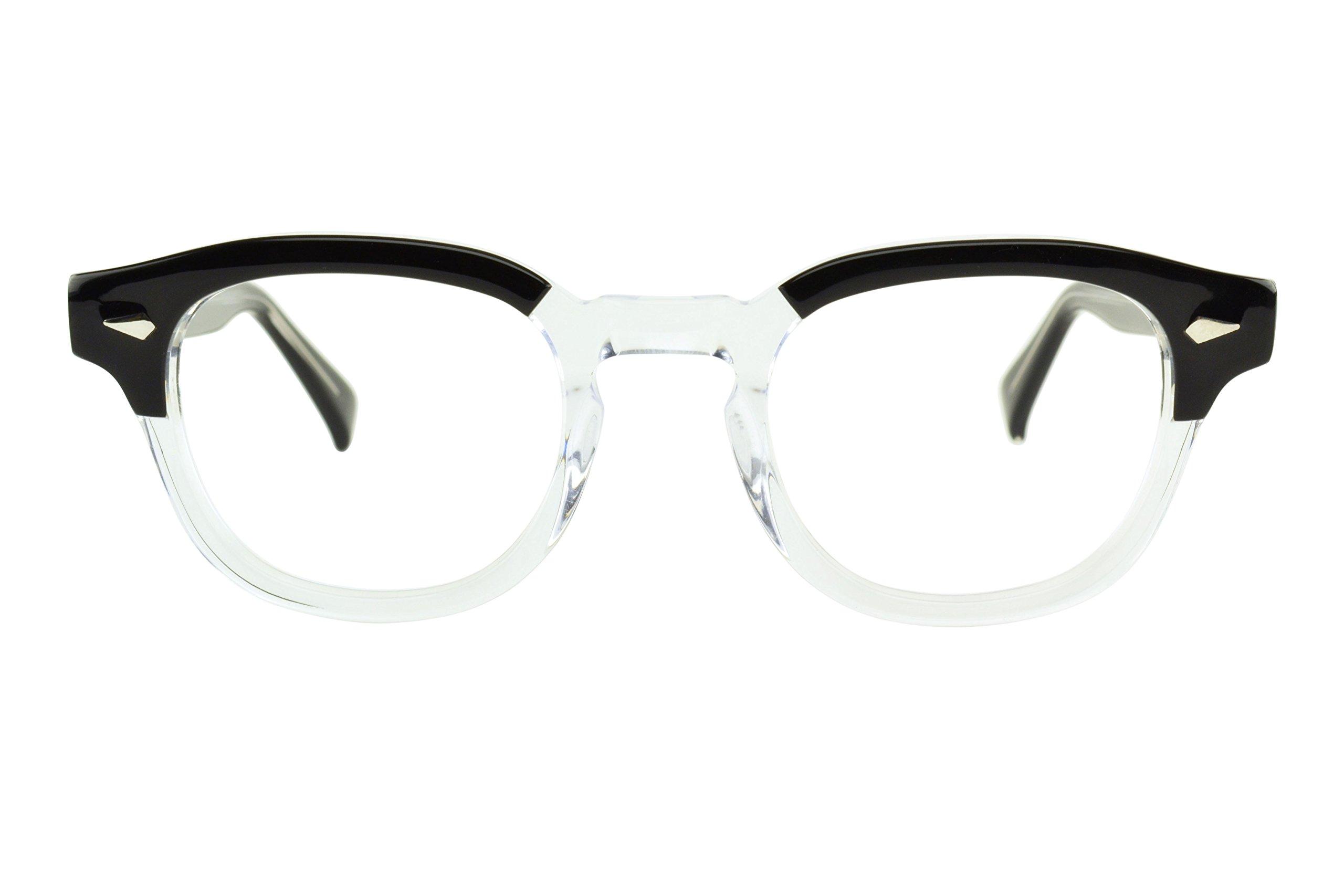 Blue Light Glasses Computer Reading, Gaming Blue Light Blocking Glasses Hand-Made Acetate Anti Eye Strain Eyewear for Men and Women (Rim Size VLV46)