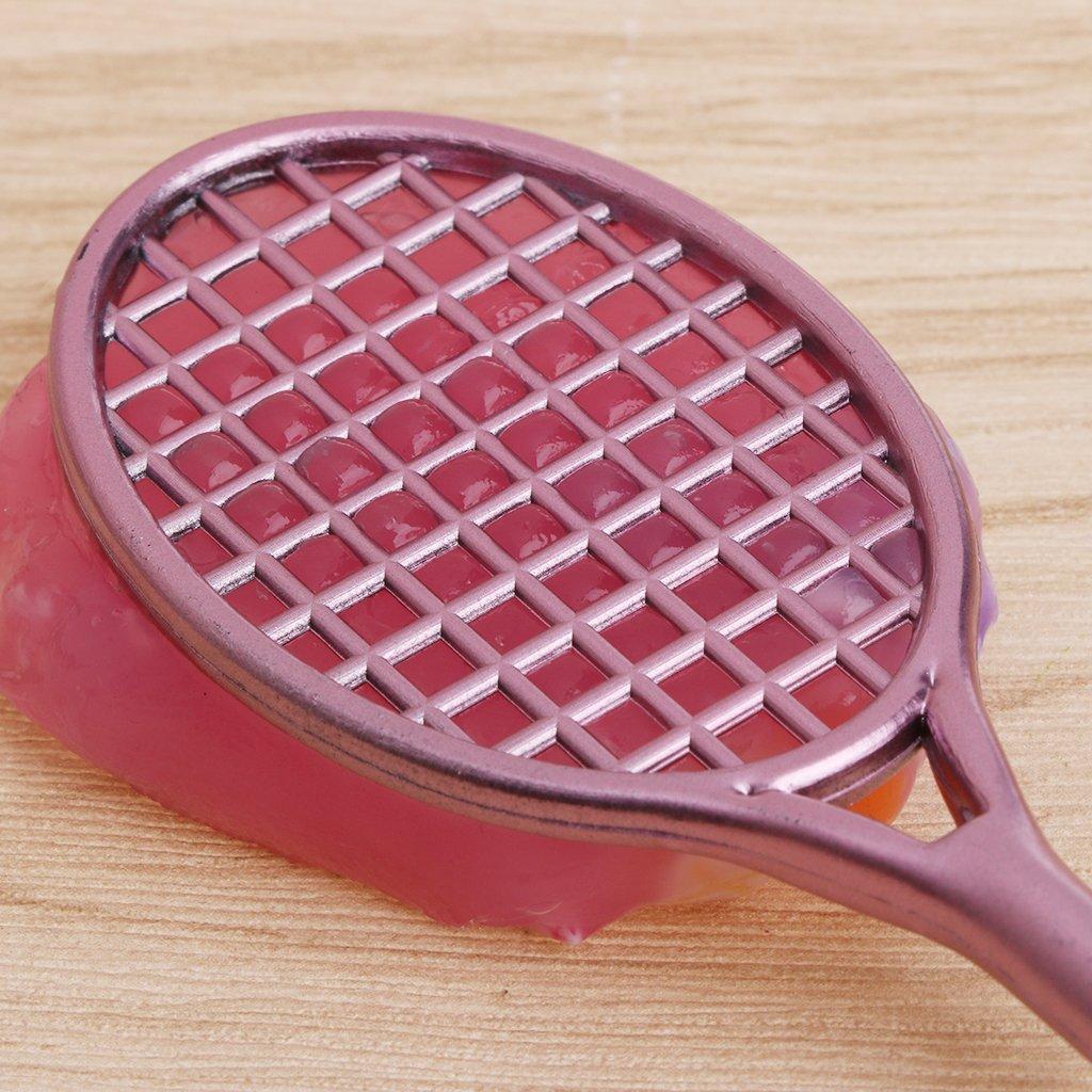 Forgun Mini Badminton Racket Slime Form Crystal Soil Kit Play with Slime Gel Pen by Forgun (Image #7)