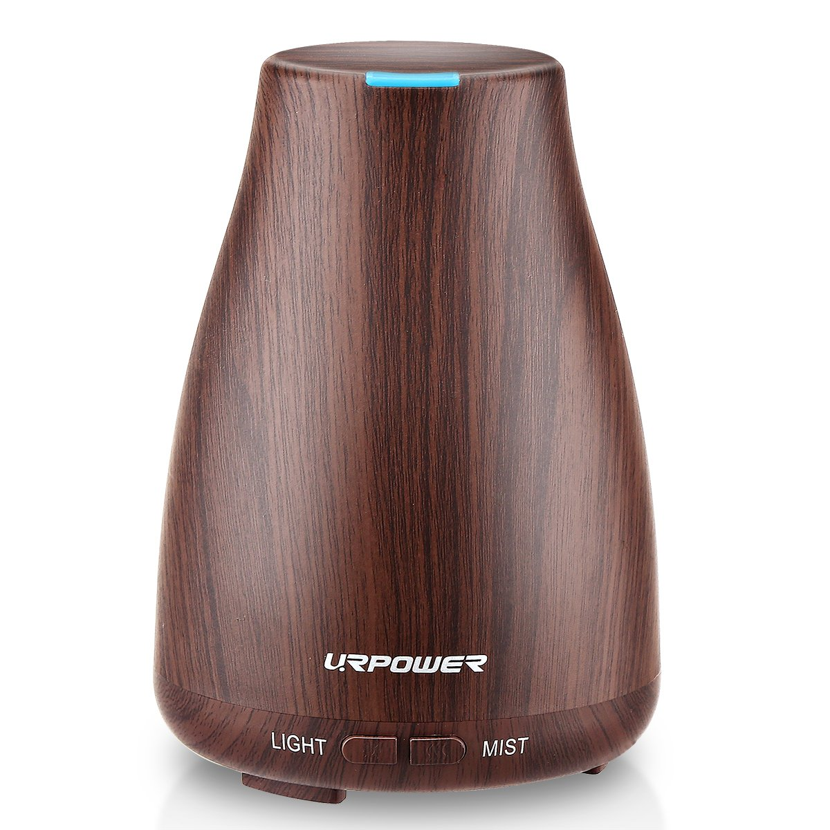 URPOWER 2nd Version Essential Oil Diffuser Aroma Essential Oil Cool Mist Humidifier with Adjustable Mist Mode,Waterless Auto Shut-off and 7 Color LED Lights Changing for Home Office Baby