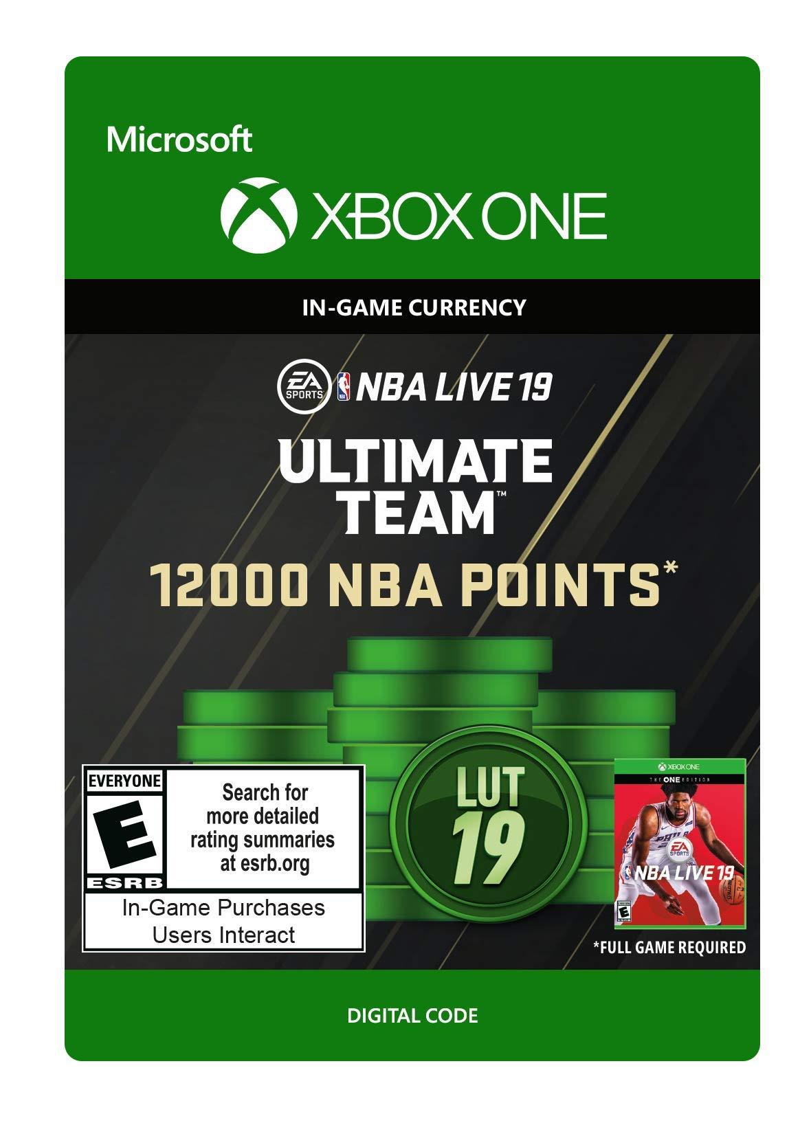 NBA LIVE 19: NBA UT 12000 Points Pack - Xbox One [Digital Code]