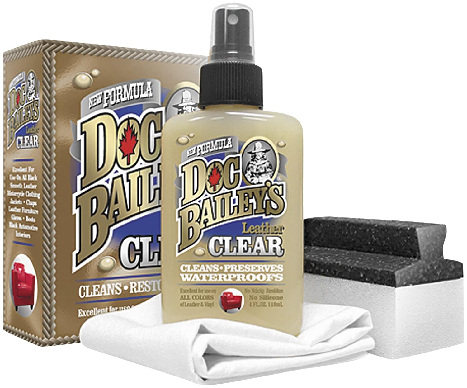 Doc Baileys Leather Detail Kit Black - Restore Your Clear Leather and Vinyl With This Leather Cleaning Product - Condition, Clean, and Waterproof ...