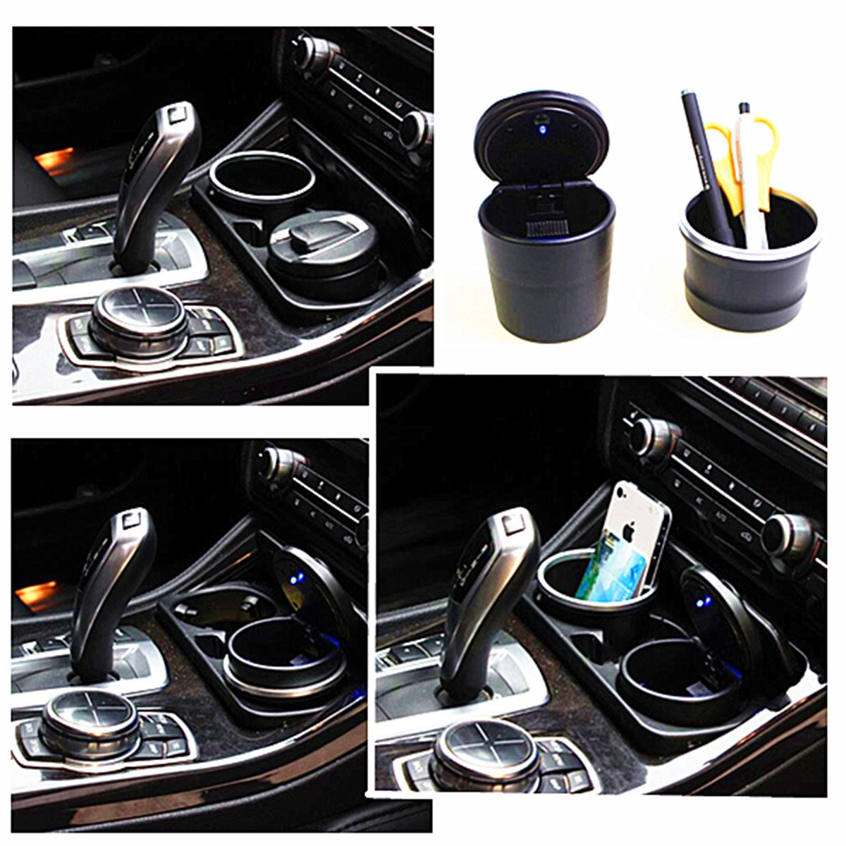 Alamor Portable Car Ashtrays Storage Box Led For Bmw Of 1 Series 3 Series 5 Series 7Series X1 X3 X5 X6