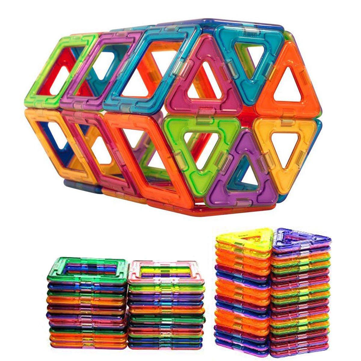 Vomy 50個磁気Construction Buildingブロック子供おもちゃ教育ブロックキッズ B07CWV4ZCS
