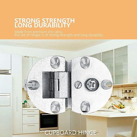 Fdit 2/Piezas Bisagra de la Puerta del Armario de Cocina con Integrado bisagra de 90/Grados Cierre sin Marco Montaje Completo solapamiento