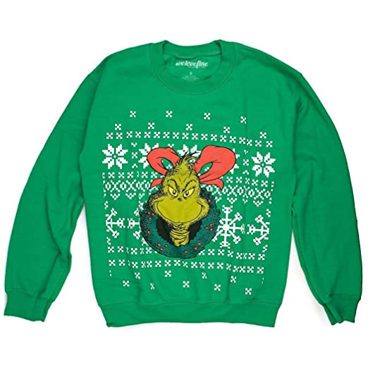 Amazoncom Dr Seuss Grinchin Ugly Christmas Sweater Medium Clothing