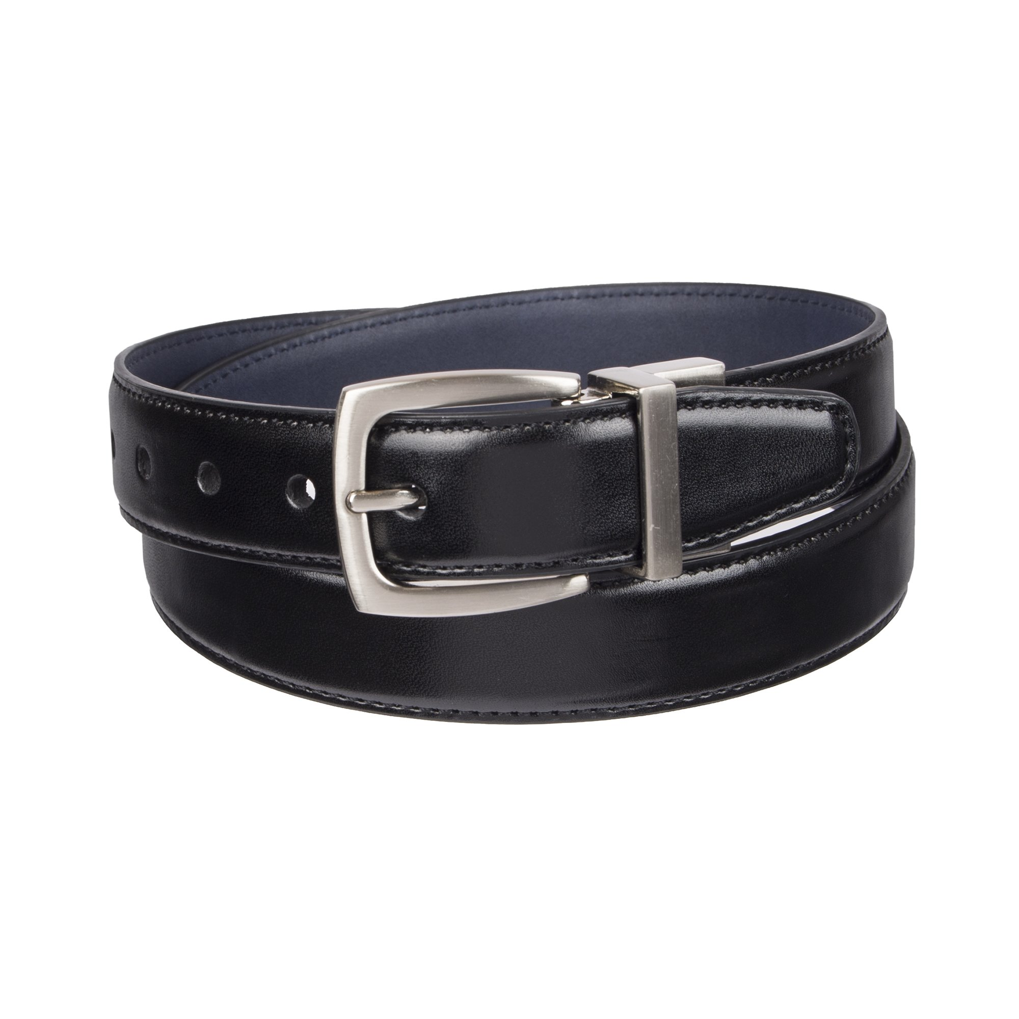 Dockers Big Boy's Dockers Reversible Black-to-Brown Belt, black/navy, Meduim (26-28 Inches)