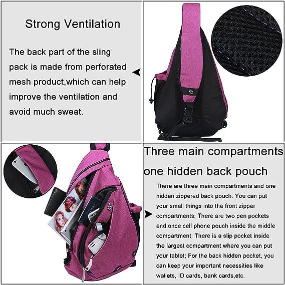 Amazon.com   EGOGO Multi-functional Sling Pack Backpack Cross body Pack  Shoulder Sling Bag Hiking Dackpack One Should Strap for men and women. 297a97713977e