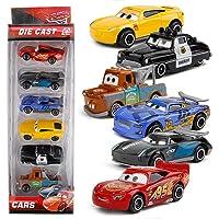 HALO NATION® 1:64 Cars McQueen Diecast Metal Car Toys 6 pcs - Lightning McQueen, Black Storm Jackson, Dinoco, Mater, Sheriff & Rod Torque Redline Cars Toy