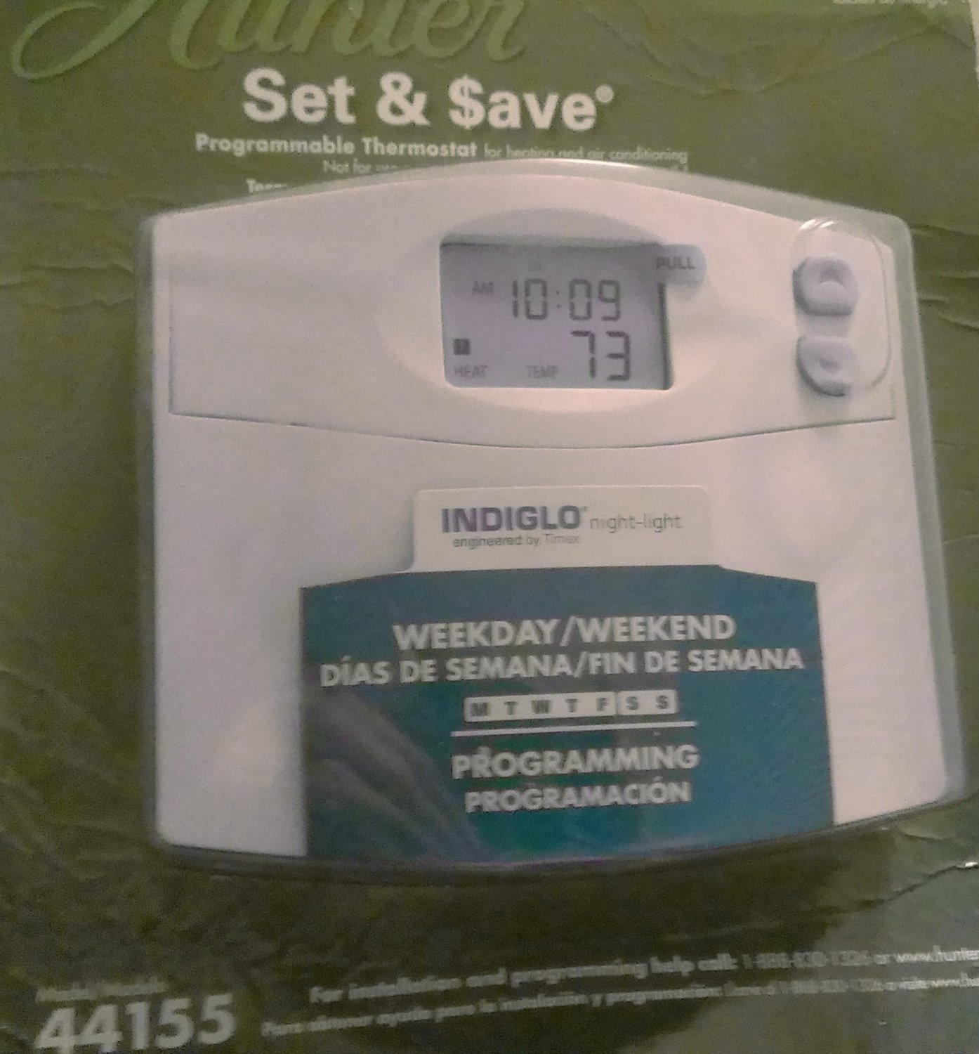 Hunter 44155 Programmable Digital Thermostat with Indiglo - Programmable  Household Thermostats - Amazon.com