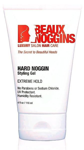 Hard hair gel for men