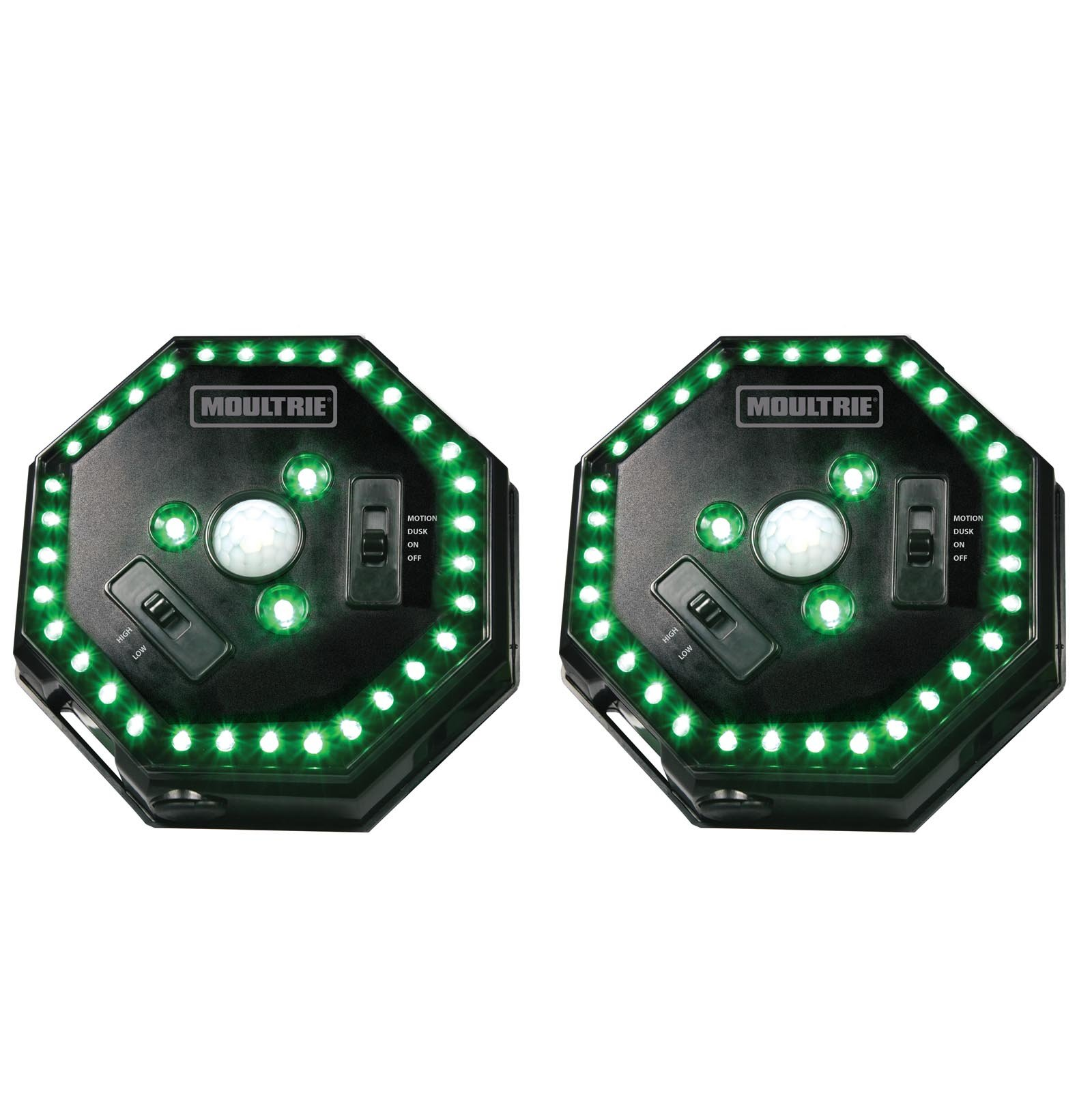 (2) MOULTRIE Motion-Activated LED Feeder Hog Lights w/ 30FT Radius | MFA-12651 by Moultrie