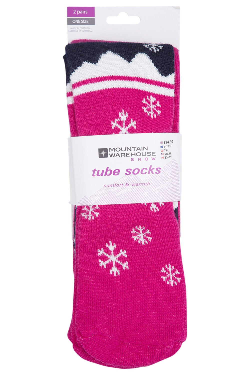 Mountain Warehouse Patterned Ski Tubes - 2 Pack Long Socks Dark Purple 023396021001