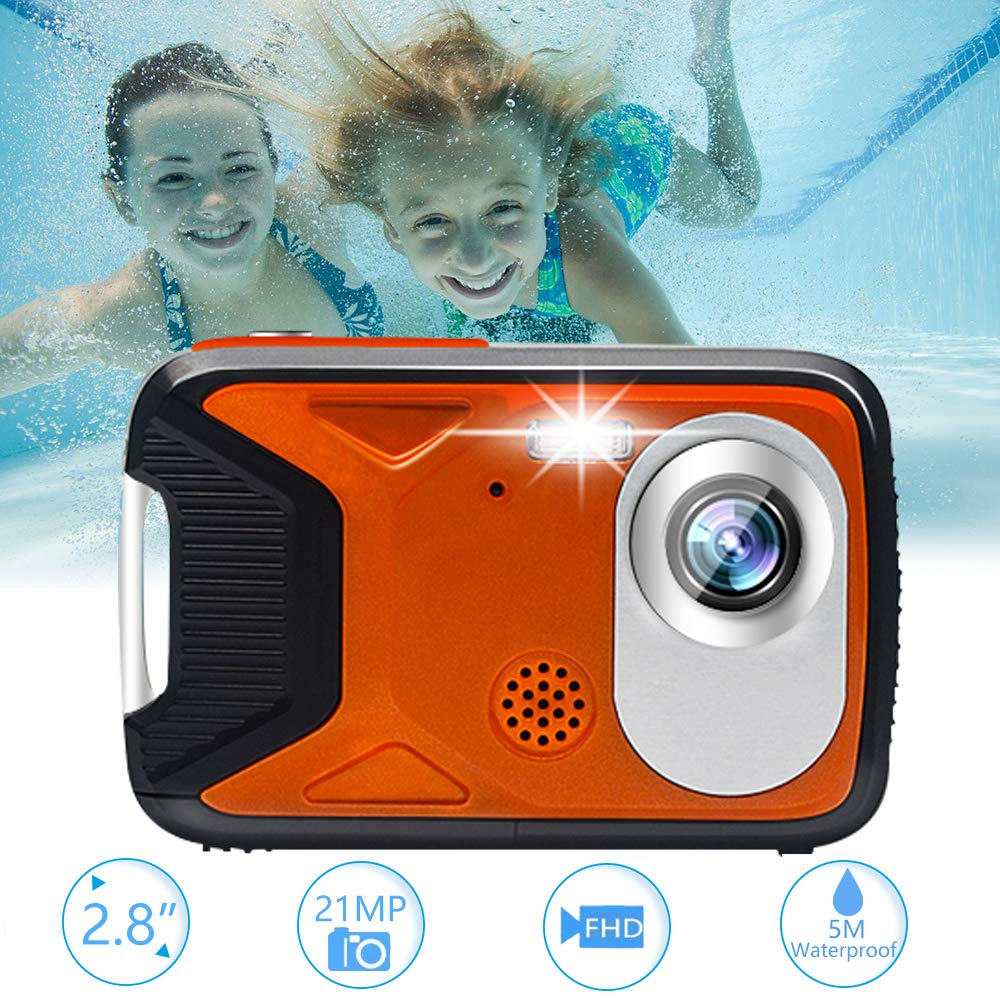 Underwater Camera Waterproof Digital Camera Full HD 1080P with 32GB TF Card for Snorkelling Waterproof Point and Shoot Digital Camera Action Camera
