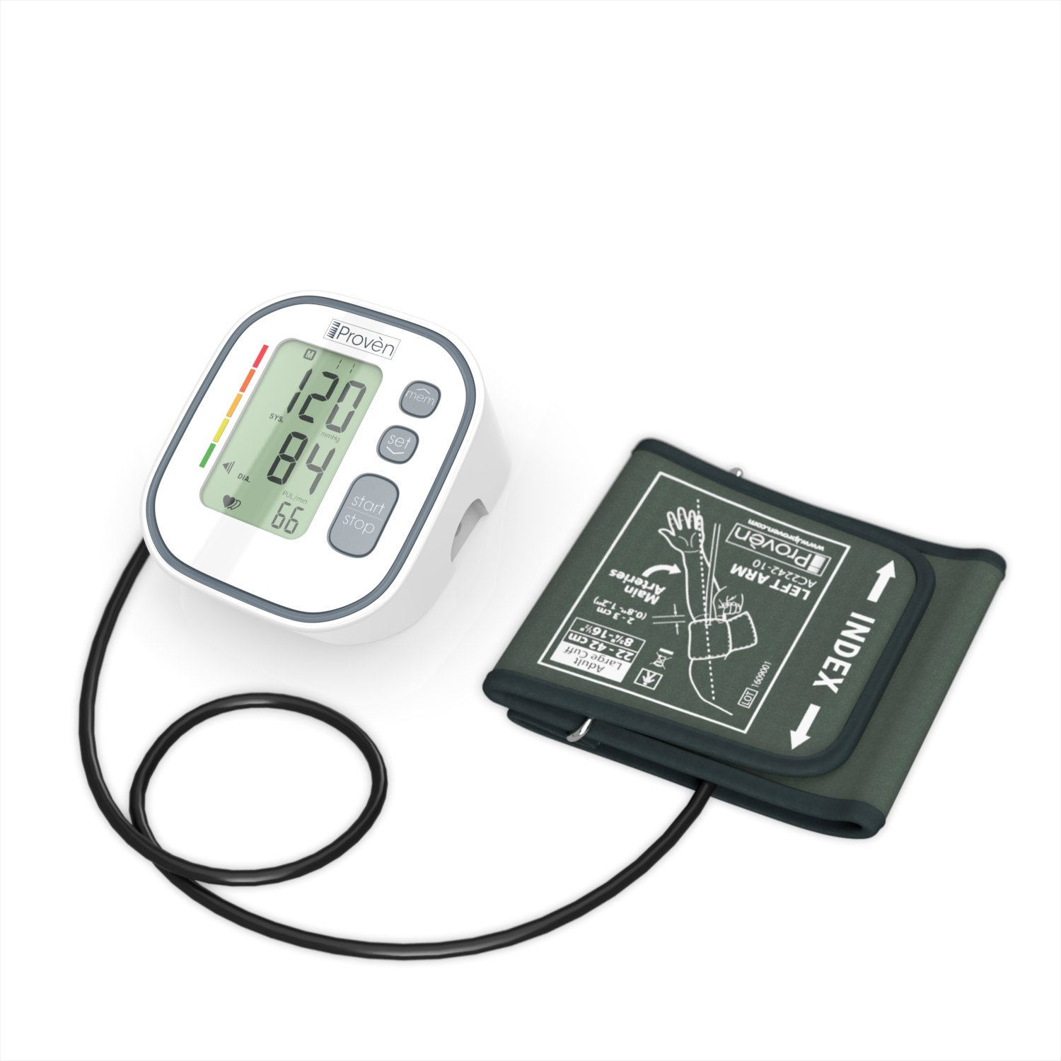 Digital Automatic Blood Pressure Monitor - Upper Arm Cuff - Large Screen - Accurate & Fast Reading Electronic Machine - Top Rated BP Monitors and Cuffs - FDA Approved - iProvèn BPM-634 - for Home Use by iProvèn (Image #7)